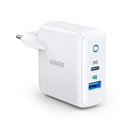 Anker PowerPort PD 2-USB C, 30W зарядно с 18W PD и 12W PowerIQ