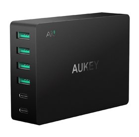 AUKEY Quick Charge 3.0 USB зарядно, 60W, с кабел UK