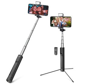 BlitzWolf Selfie Stick, 3 in 1-Tripod, with 3 Level Fill Light