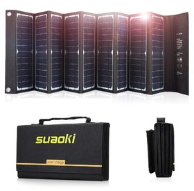 SUAOKI 60W Solar Charger with Foldable Portable SunPower Solar Panels