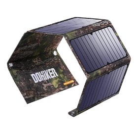 Dohiker-Solar Charger 27W Solar Panel Charger with 3 USB Ports