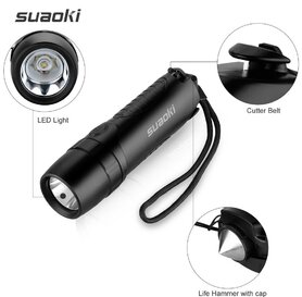 SUAOKI TC7 LED Torch, 5200mAh Power Bank, Emergency Hammer and Belt Cutter